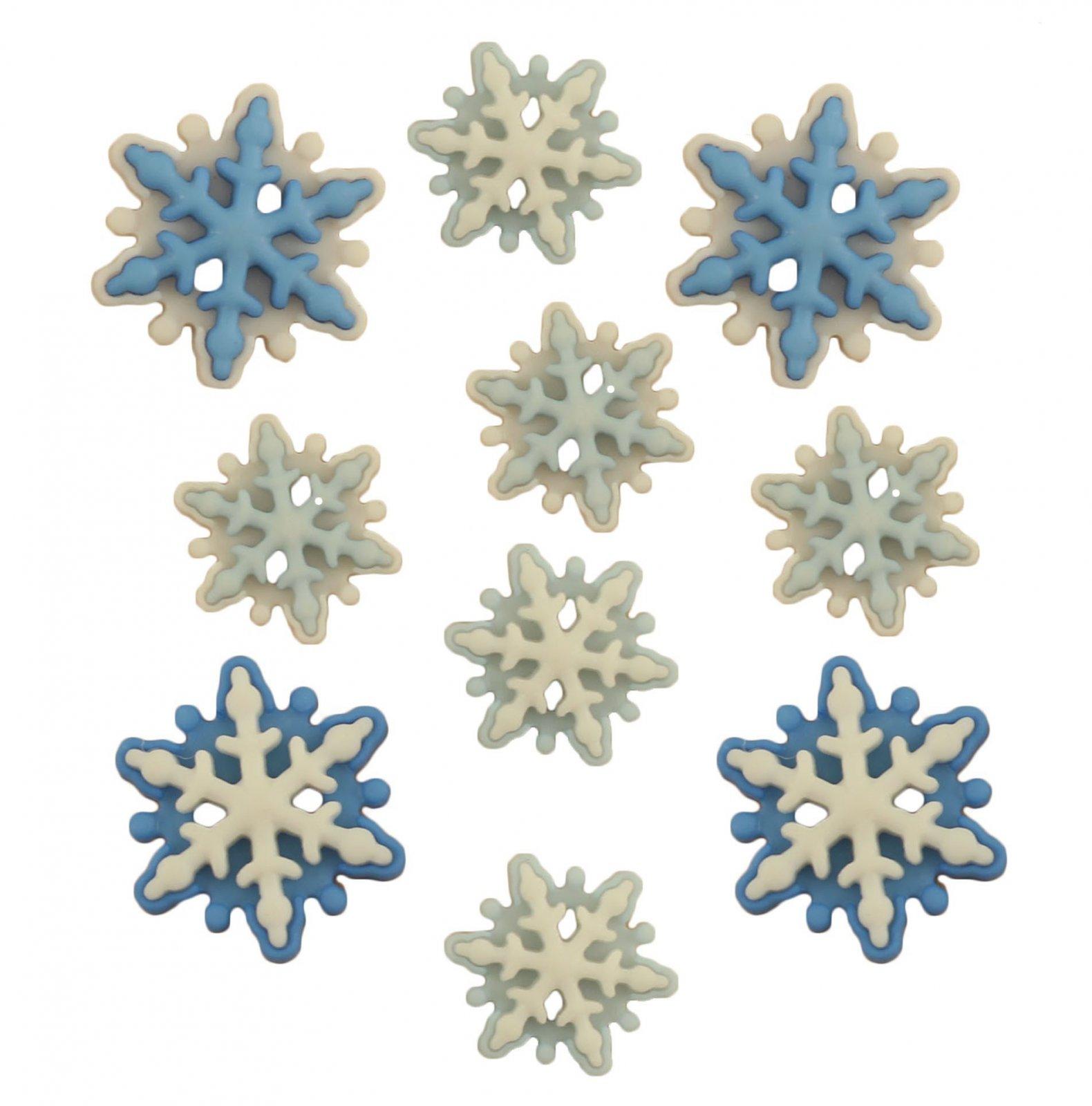 Buttons Galore - BRRR Snowflakes - 10 pcs.