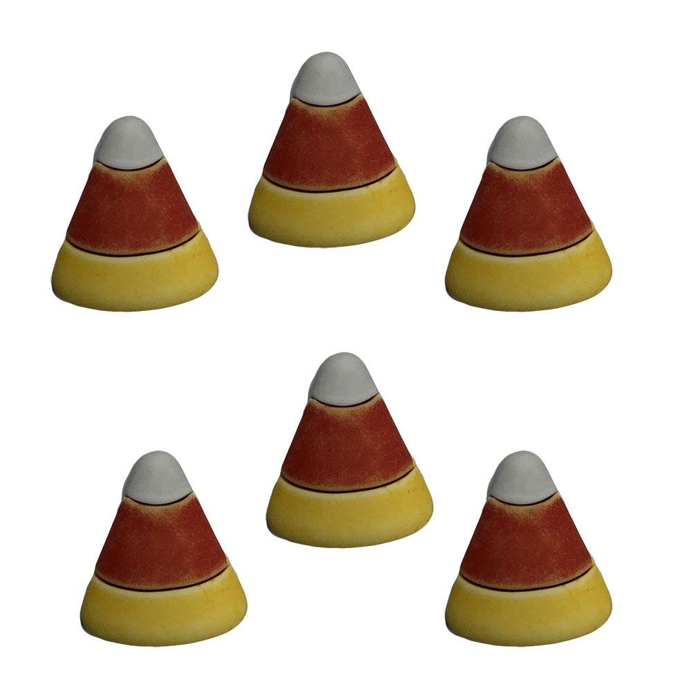 Buttons Galore - Candy Corn - 6 pcs