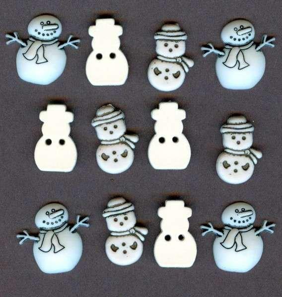 Button Galore Little Snowmen