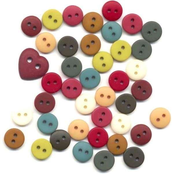 Button - Primary Blend Mini Round