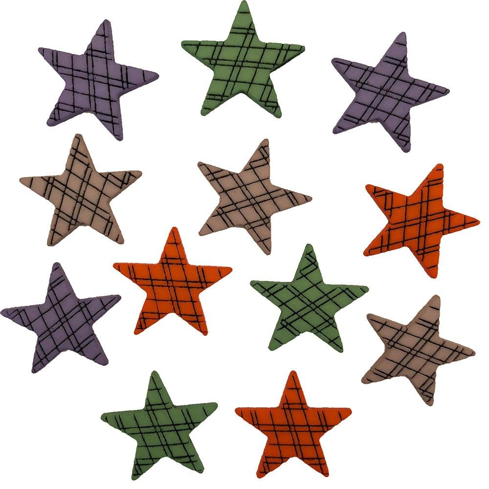 Buttons Galore Spooky Stars - 12pcs