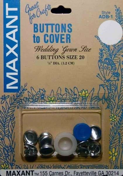Button - To Cover - 1/2 - Size 20