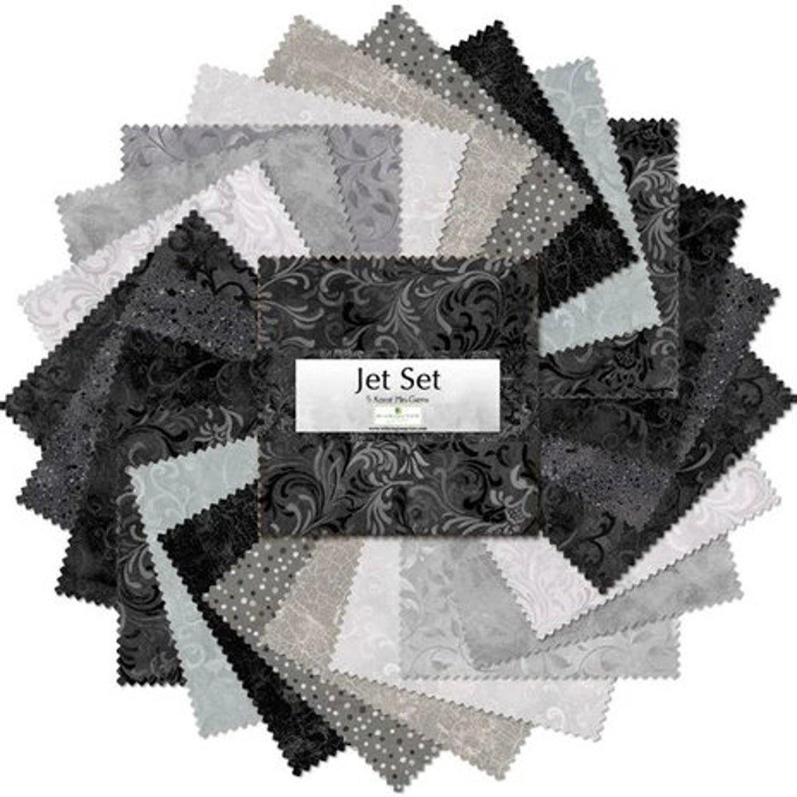 Charm Squares - Jet Set Essentials by Wilmington