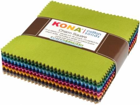 Charm Squares - Kona Cotton DUSTY - 101 pcs