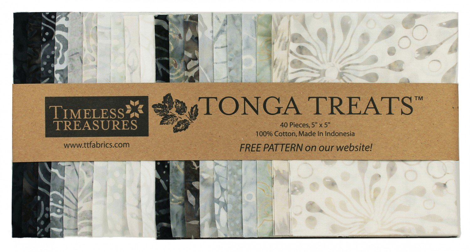 Charm Squares - Tonga Treats - GRAPHITE