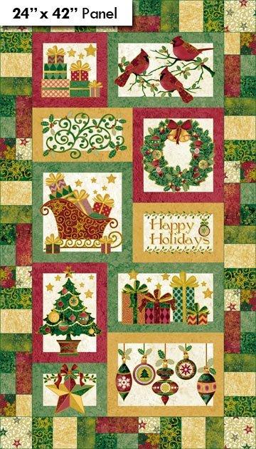 Christmas Traditions Panel - Stonehenge Northcott