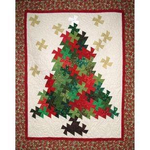 Christmas Tree Pinwheel Twist pattern