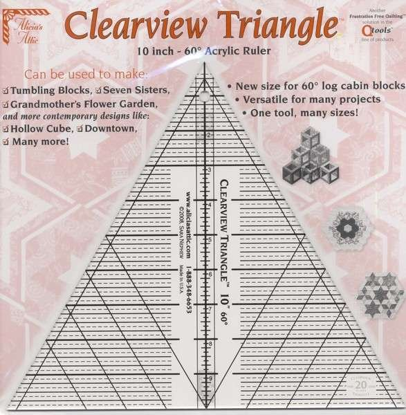 Clearview Triangle Ruler 10
