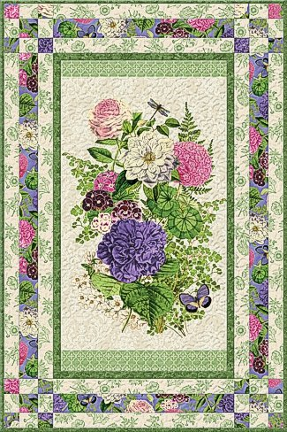 Flower Show Wall Hanging/Lap Quilt Kit