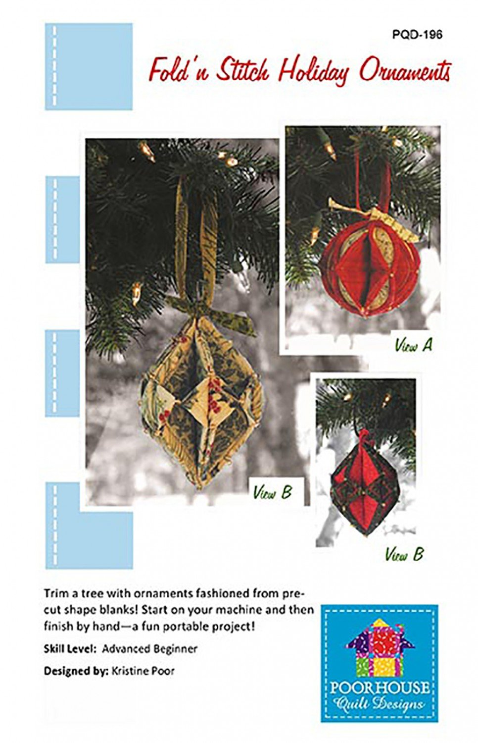 Fold N Stitch Holiday Ornaments Pattern
