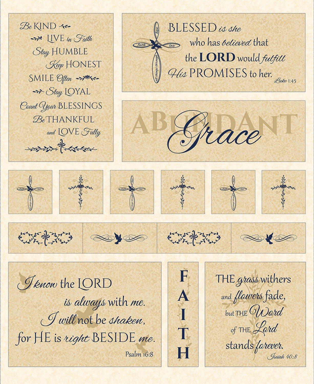 Abundant Grace 1 Panel - C6060-cream