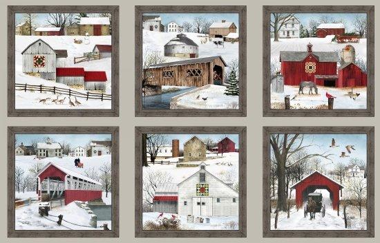 Headin Home Winter Panel - 4707sepia