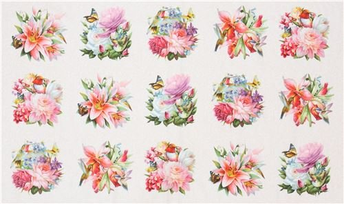 Hummingbird Bouquet Panel