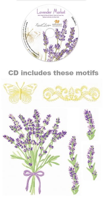 Lavender Market Embroidery CD