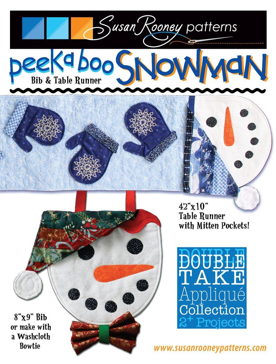 Peekaboo Snowman Table Runner/Bib Pattern