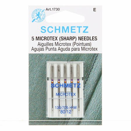 Needles Schmetz - Microtech/Sharps 80/12  5 pk