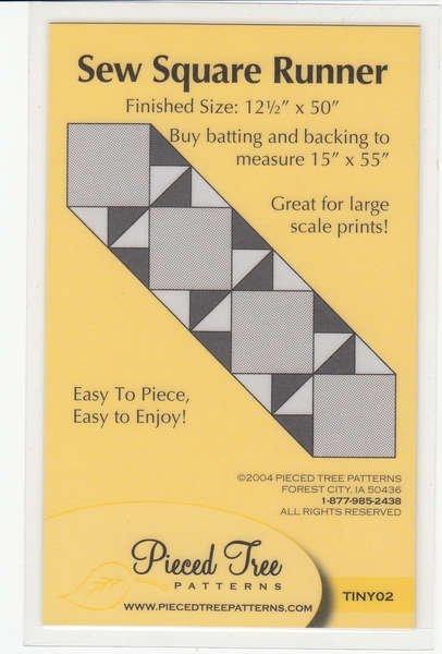 Sew Square Runner Pattern