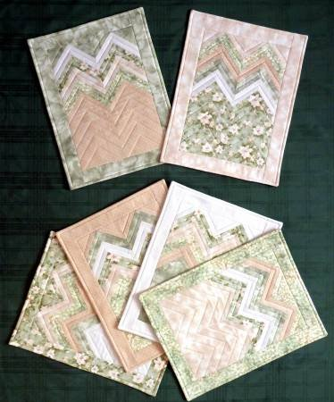 Six Halves Make a Whole - Zig Zag Place Mats Pattern
