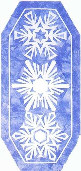 Snowflakes Table Runner Kit