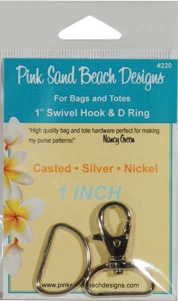 Swivel Hook & D Ring - 1 - Silver/Nickel