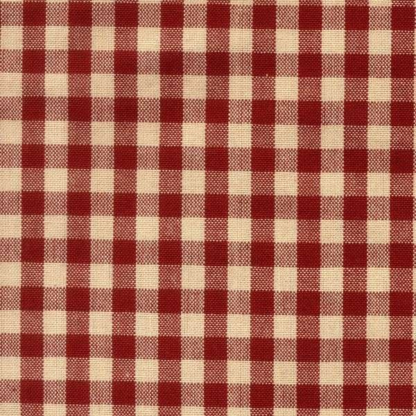 Tea Towel Small Check - Red