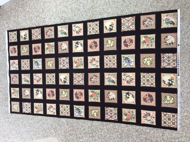 Lotus Tiles Panel - C9565-blk