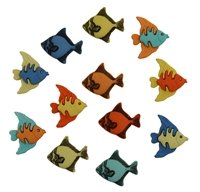 Tropical Fish Buttons