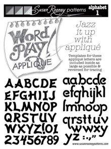 Word Play Applique - Alphabet 1