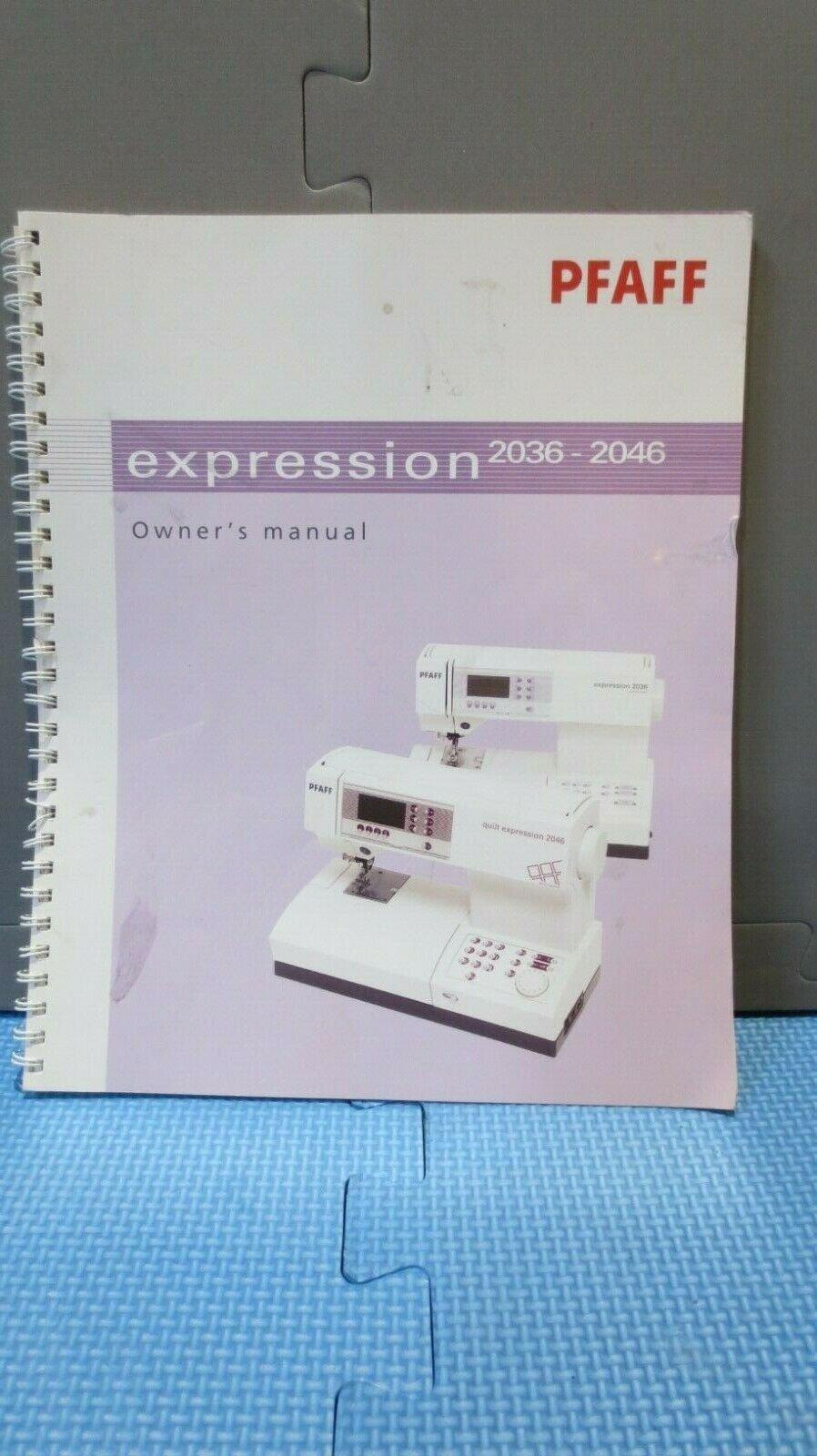 Pfaff manual for 2036/2046