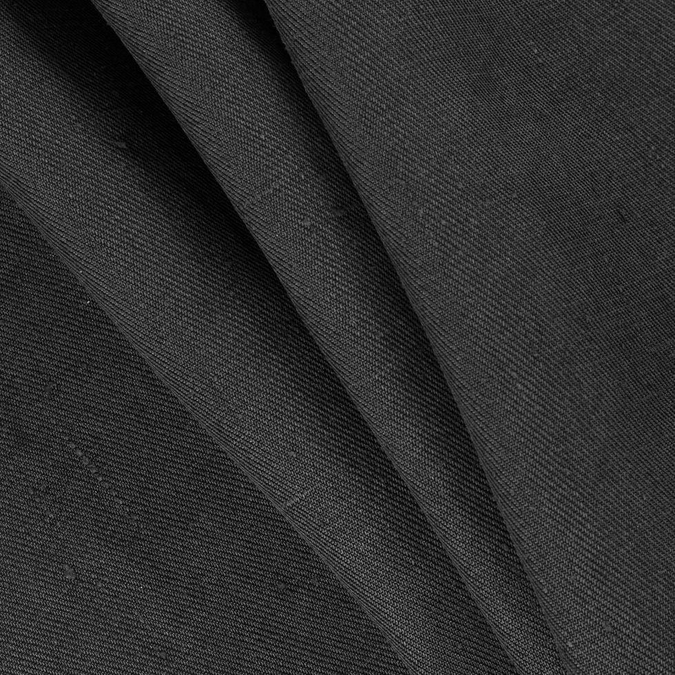 Black Silk Twill - Light Weight