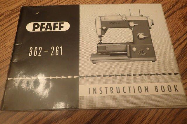 Pfaff 362 manual