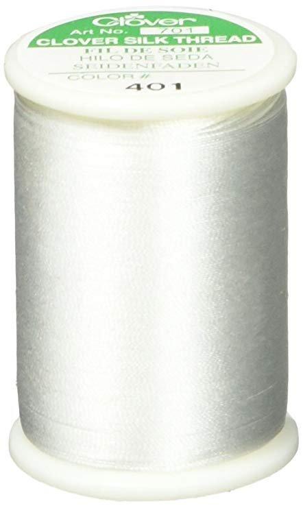 Clover Silk Thread White