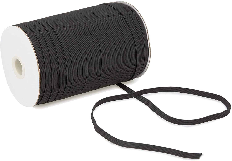 1/4 Elastic - Black - 144yd Spool