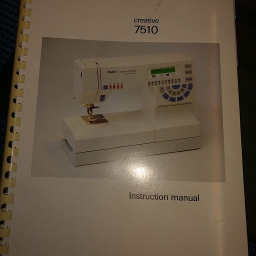 Pfaff 7510 manual for machine