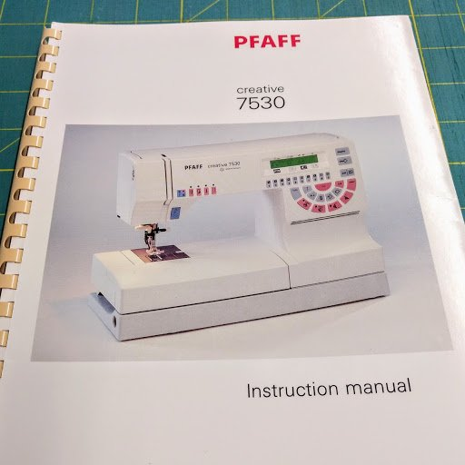 Manual for Pfaff 7530