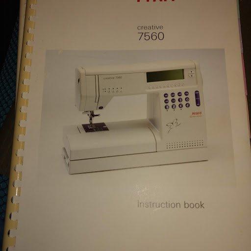 Pfaff Creative 7560 manual
