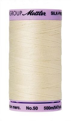 Silk Finish Cotton 50wt 547 yards Antique White