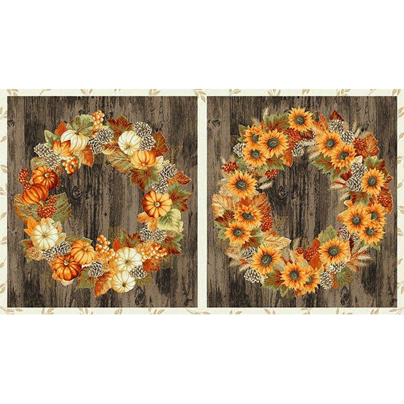 Autumn Beauties - Metallic Autumn Blocks SRKM-19314-191