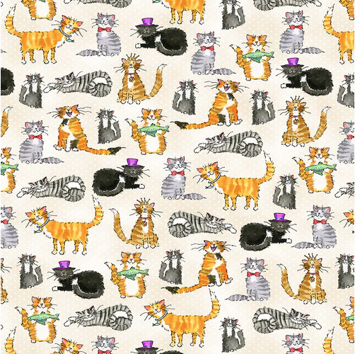 Clever Kitty Flannel - Beige
