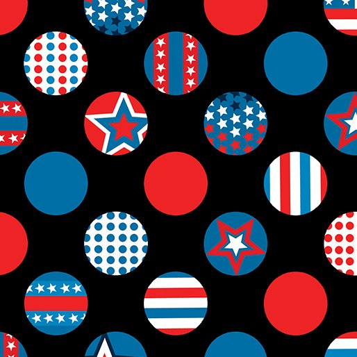 All American Dots Black