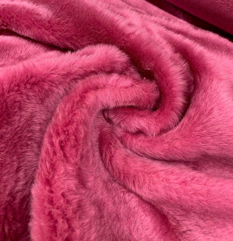 Antique Rose Faux Fur - Medium  Pile
