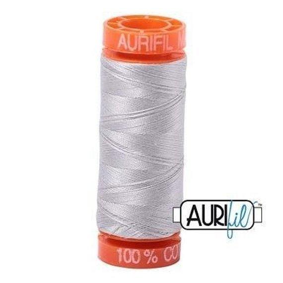 Aurifil Mako 50wt Solid 219yds - ALUMINIUM 2615