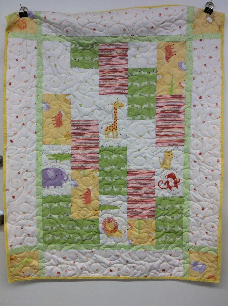 Sweet Safari Baby Quilt Kit - Organic Cotton