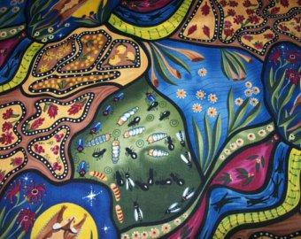 Aboriginal Bambillah Fabric