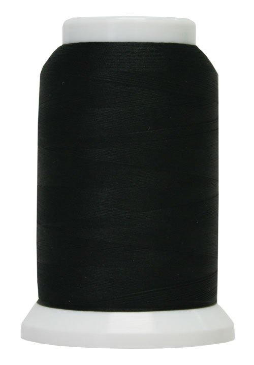 Polyarn flocked polyester Serger Thread Black