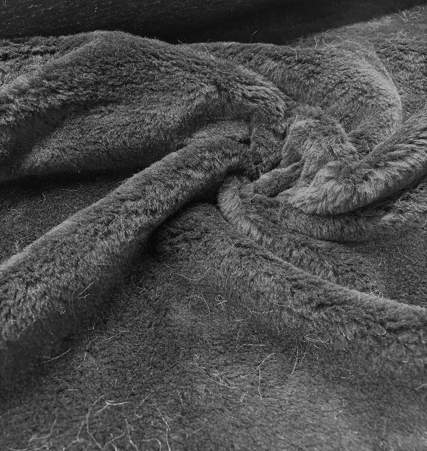 Black Faux Fur - Low Pile