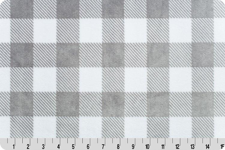 Cuddle Fabric - Solid Buffalo Check 58 Wide