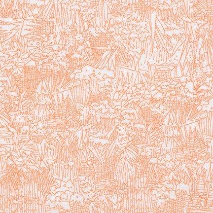 108 wide backing fabric Robert Kaufman Friedlander - Cantalope