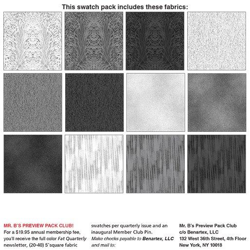 Benartex Chalk Effects 5 squares