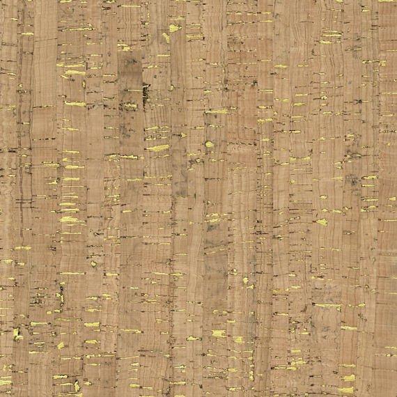 Natural Cork Fabric - Gold Flecks 27wide x 1yd roll